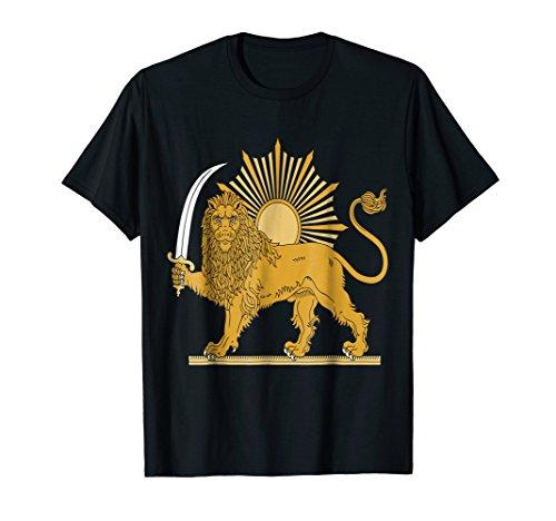 Iran Iranian Symbol Coat Of Arms Emblem Sword Lion T-Shirt