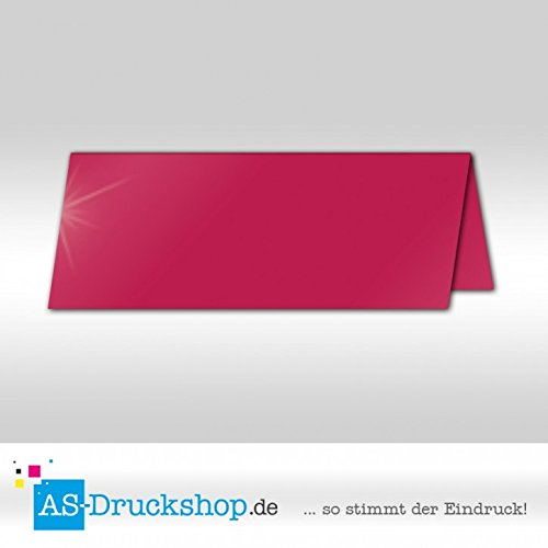 Große Tischkarte Platzkarte - Fuchsia - Seidig 100 Stück 13,2 x 5,1 cm B079Q2RJJF   Jeder beschriebene Artikel ist verfügbar