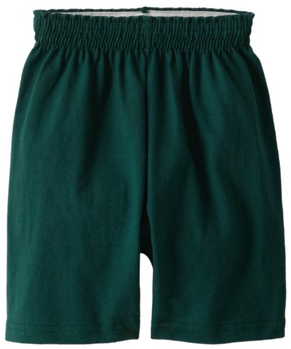 Soffe Big Boys' Heavy Weight Cotton Short, Dark Green, Small