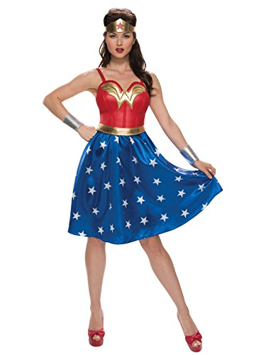 Trashy Halloween Outfits (Rubie's Women's Wonder Woman Costume, As Shown,)