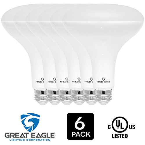 Great Eagle LED BR40 2700K Dimmable Light Bulb, 15W(120W Equivalent) UL Listed 1470 Lumens Warm White Color for Recessed and Track Lighting Fixtures (6-pack) (R40 Bulb Life Light)