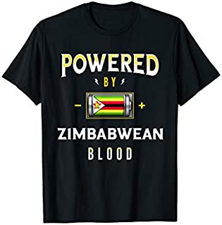 [Featured] Powered by Zimbabwean Blood Battery Zimbabwe Flag in ALL styles | Size S - 5XL