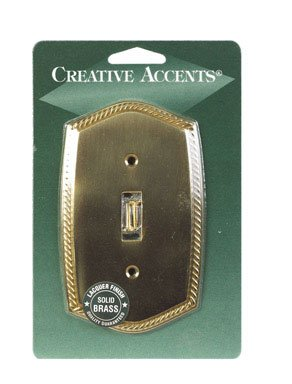 English Rope Solid Brass (Solid Brass Wallplate English Rope 1 Gang)