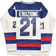 Micjersey Mike Eruzione Jersey, Eruzione #21 1980 Miracle USA Ice Hockey Jerseys