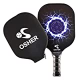 OSHER Pickleball Paddle Graphite Blue Cooling Towel Pickleball Racket Honeycomb Composite Core Pickleball Paddle Set Ultra Cushion Grip Low Profile Edge Bundle Graphite Pickleball Paddles Racquet