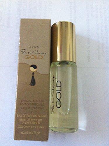 AVON FAR AWAY GOLD EAU DE PARFUM SPRAY .05 Fl OZ - Avon Perfume Collectables