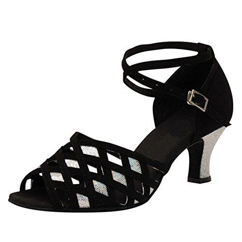 Zapatos de tacón de Terciopelo de Best Connections - Negro, mujer, 35 EU