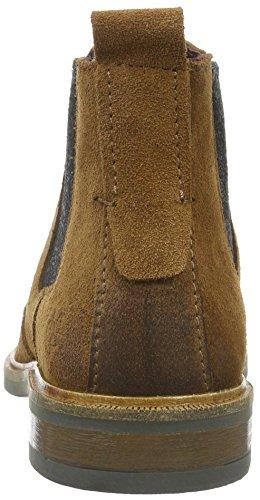 Marc O'Polo Chelsea, Botas de caña baja con forro cálido, Mujer Marrón (Cognac 720)