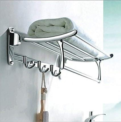 Impulse High Grade Stainless Steel Folding Towel Rack for Bathroom/Towel Stand/Hanger / Bathroom Accessories