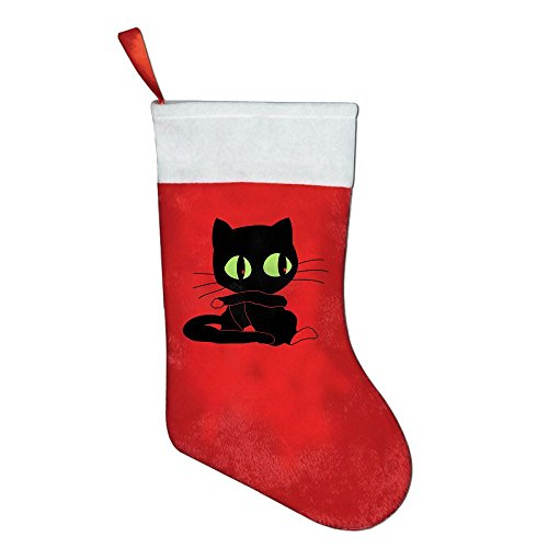 Christmas Stocking Cute Pussy Cat/kitten With Big Eyes Style Children's Favorite Christmas Stockings Of Tree (Pussycat Christmas Costumes)