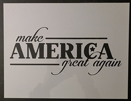 TNS STORE Trump Make America Great Again MAGA 11'' x 8.5'' Custom StencilTrump Make America Great Again MAGA 11'' x 8.5'' Custom Stencil by T