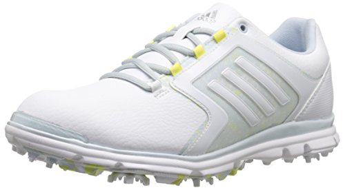 adidas Women's adistar Tour 6-spike Golf Shoe, Ftwr White/Soft Blue-tmag/Sunny Lime-tmag - 5 B(M) US by adidas