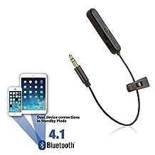 Reytid Bluetooth Adapter for V-Moda CrossFade M-100 & M-80 & LP2 Headphones - Wireless Converter Receiver On-Ear Earphones
