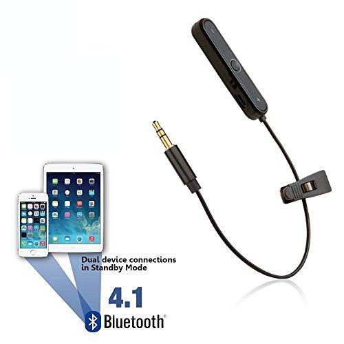 REYTID Bluetooth Adapter for Beats Solo, Solo2, Studio, Studio 2.0, MIXr & Pro Detox Headphones - Wireless Converter Receiver for Apple Earphones On-Ear Over-Ear (Beats Bluetooth Adapter)