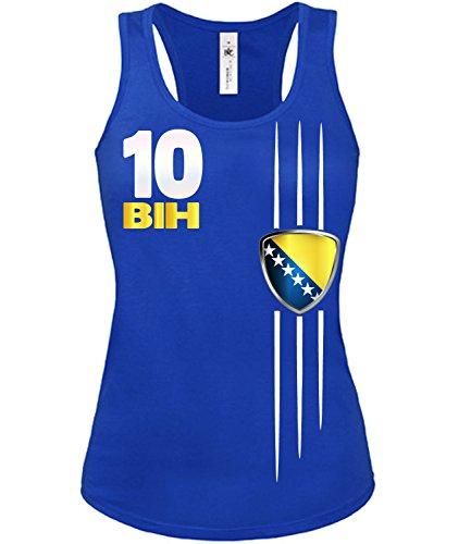 Copa del Mundo de fútbol - Campeonato de Europa de Fútbol - BOSNIEN HERZEGOWINA mujer camiseta Tamaño S to XXL varios colores S-XL Azul