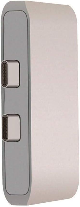 Silver Ateboo Uosible USB HUB C to HDMI 4K HD Adapter USB-C 3 Dock with PD USB3.0