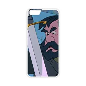 iPhone 6 Plus 5.5 Inch Cell Phone Case White The Sword in the Stone Character Black Bart MFK