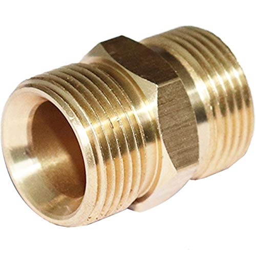 EDOU Pressure Washer Accessories,Brass Quick Coupler Fittings, Adapter Set,Quick Connect (M22-M22) (Pressure Washer Hose Coupler)