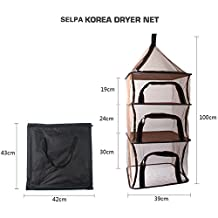 Hanging Drying Nets 4 Layers Outdoor Folding Portable Hanging Drying Net Vegetables and Kitchen Utensils Hanging Basket Windproof Folding Multi-function Tableware Food Dry Net