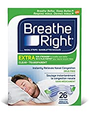 Breathe Right Extra Clear Nightly Sleep, 26 Count