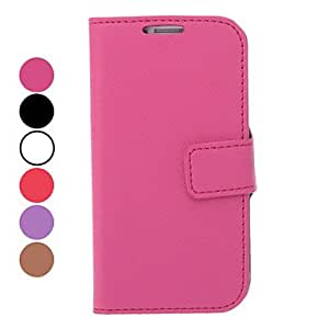 Lichee Pattern PU Leather Case with Stand and Card Slot for Samsung Galaxy S4 I9500 (Assorted Colors) --- COLOR:Black
