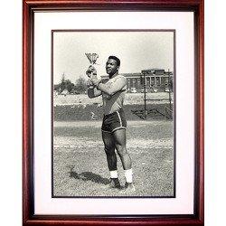 NCAA Syracuse Orange Jim Brown Lacrosse Framed Igned 16x20 Photo by Steiner Sports