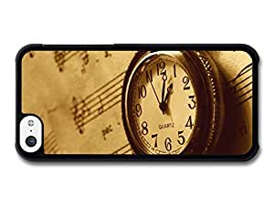 MMZ DIY PHONE CASEVintage Style Pocket Watch on Music Sheet Cool case for iphone 6 plus 5.5 inch