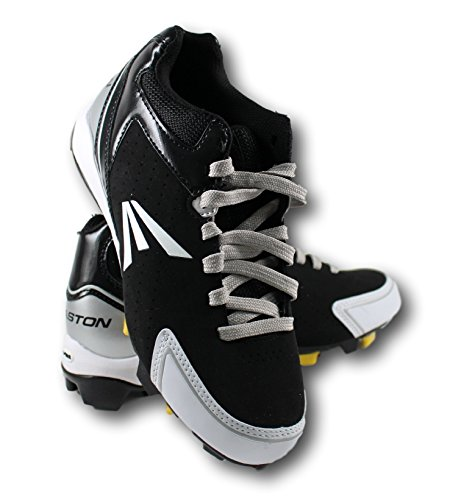 Men's Easton Baseball Cleats - Black, White with Silver Lace