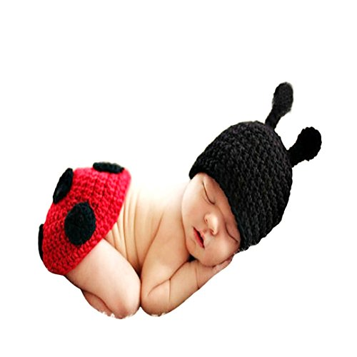 Multifit Cute Newborn Baby Photography Props Photo Shoot Crochet Knit Hat Outfit Posing ()