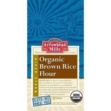(Arrowhead Mills Organic Brown Rice Flour, Pack of 25)