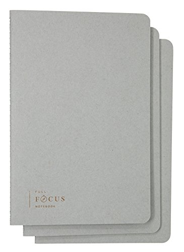 3 Button Notebook - Full Focus Notebook by Michael Hyatt (Pack of 3) - A Spacious Notebook to Capture Your Best Ideas and Silence Distraction - 64 Ruled Pages - Softcover