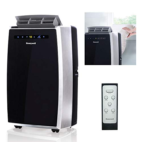 Honeywell MN12CES Portable Air Conditioner, Rooms Up To 400-550 Sq. Ft, Black/Silver