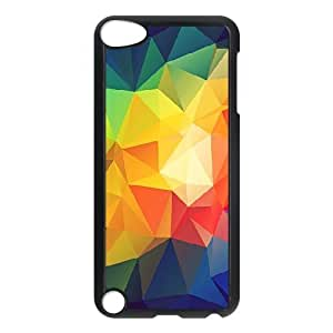 Ipod Touch 5 Cases Colorful Abstract Triangle Shapes Render, Abstract Color Cases Jumphigh, {Black}