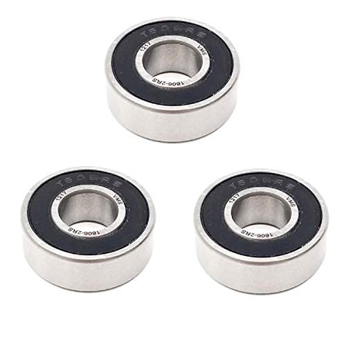"""1 1//8/"""" x 2 1//2/"""" x 5//8/"""" 5x 1652 2RS Rubber Sealed Deep Groove Ball Bearings"""