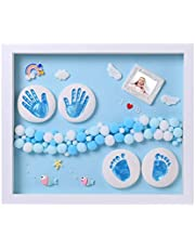 Nifyto Baby Handprint Footprint Ornament Keepsake Kit, Baby Nursery Memory Art Kit, Baby Shower Gifts, Xmas Gifts, Precious Moment for Newborn,Baby Boy/Girl, Personalized Baby Prints…