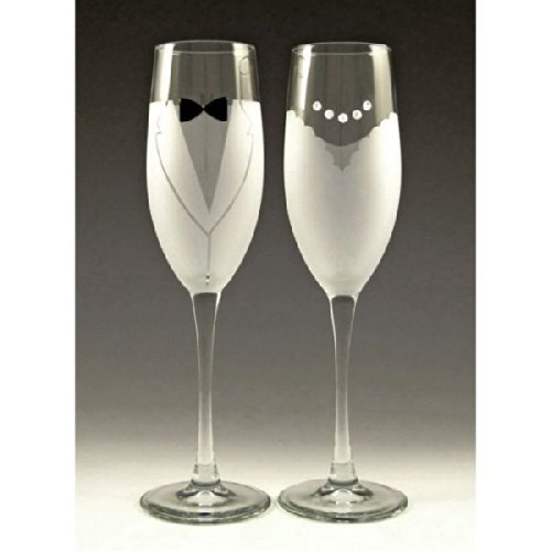 Crystal Martini Necklace (Bride and Groom Champagne Glasses by Asta Glass)