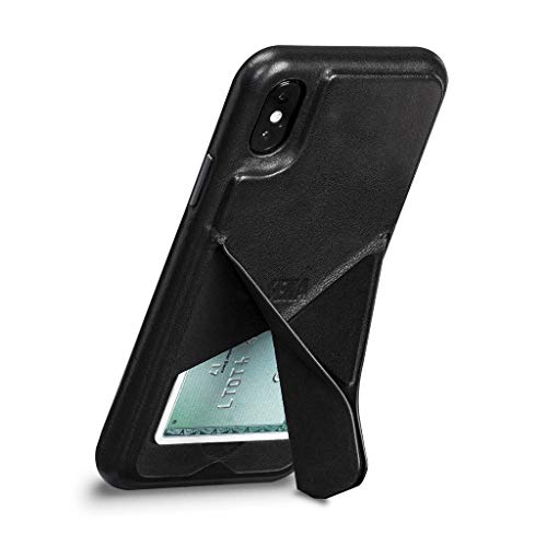 Vista Leather Cell Phone Case with Stand for iPhone XS Max - Wireless Charging Compatible - - Premium Stand Sena Case