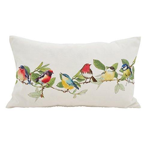 SARO LIFESTYLE Fleurir Collection Embroidered Birds Throw Pillow/263.M1220B 12