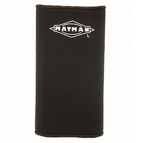 (New Matman #44A Adult Neoprene Wrestling Wrestlers Knee Sleeve Pad Black (Large) )