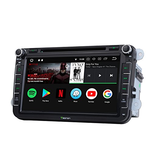 Eonon Android 8.0 Car Stereo Radio for 8 Inch Volkswagen/SEAT/SKODA 4GB RAM+32GB ROM Octa-Core Processor with Bluetooth Split Screen and PIP Multitasking Compatible with Fender System-GA9153A