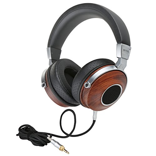 SIVGA Over Ear Headphones With In-Line Powerful Bass Music Wired Wooden Headset Soft Earmuffs For Smart Phone,Tablets,Desktop