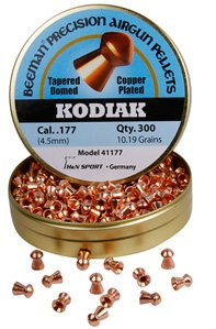 Grain Round 300 Nose - Beeman Kodiak Copper-Plated .177 Cal, 10.19 Grains, Round Nose, 300ct