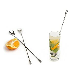 DZT1968 1pc 31cm Durable Cocktail Drink Mixer Stainless Steel Stirring Mixing Spoon for bar coffee shop