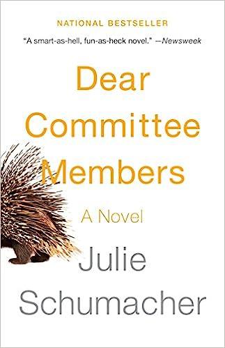 Dear Committee Members: Amazon co uk: Julie Schumacher