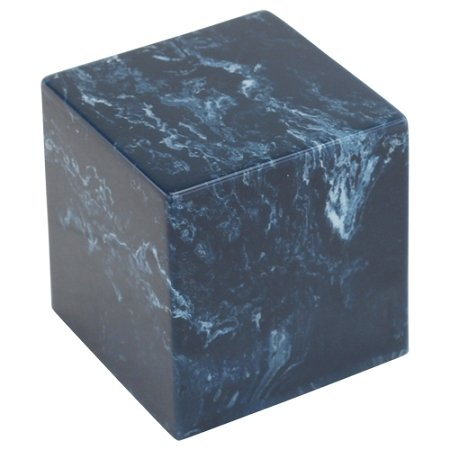 Navy Cultured Marble Extra Small Funeral Urn for Human Ashes (Dark Blue with White Marbling), Extra Small / Child Sized Urn, Suitable for Infant Cremation Urn