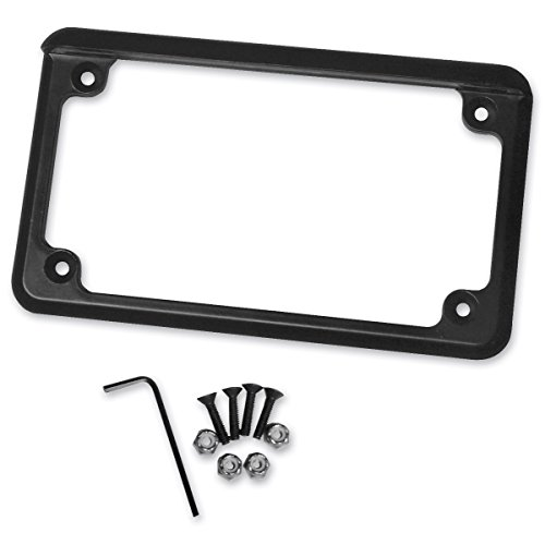 - Radiantz Motorcycle License Plate Frame - 6in. LED Illuminator - Black 8202-52