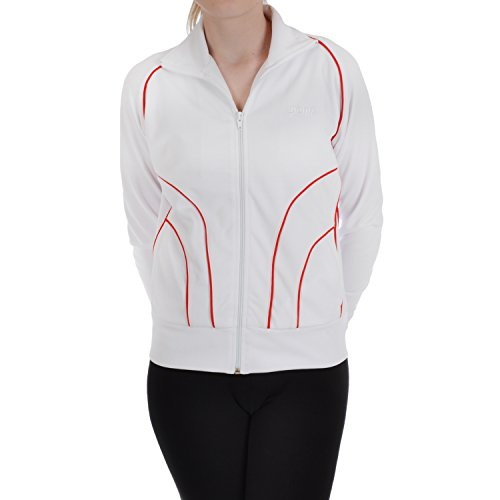 Penn Sportswear para mujer, chaqueta de chándal con cremallera Track Top white,red