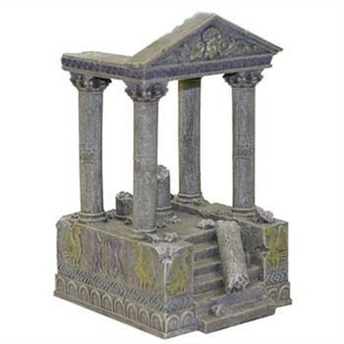 Exotic Environments Temple Ruins & Steps Aquarium Ornament, 4-1/2-Inch by 5-Inch by 8-1/2-Inch
