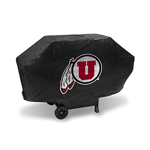 NCAA Utah Utes Deluxe Grill Cover, Black, 68 x 21 x 35