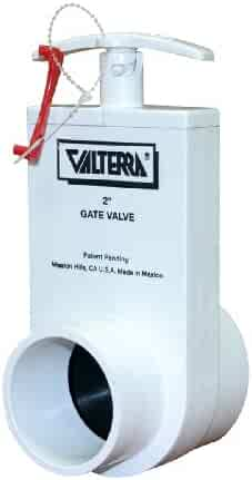Valterra 7105M ABS Gate Valve with Metal Handle 1-1//2 MPT x Slip White